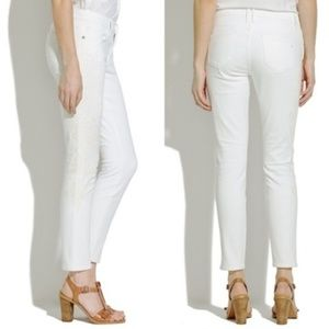 Madewell Jeans - Madewell Skinny Skinny Crop Embroidered Jeans Flor